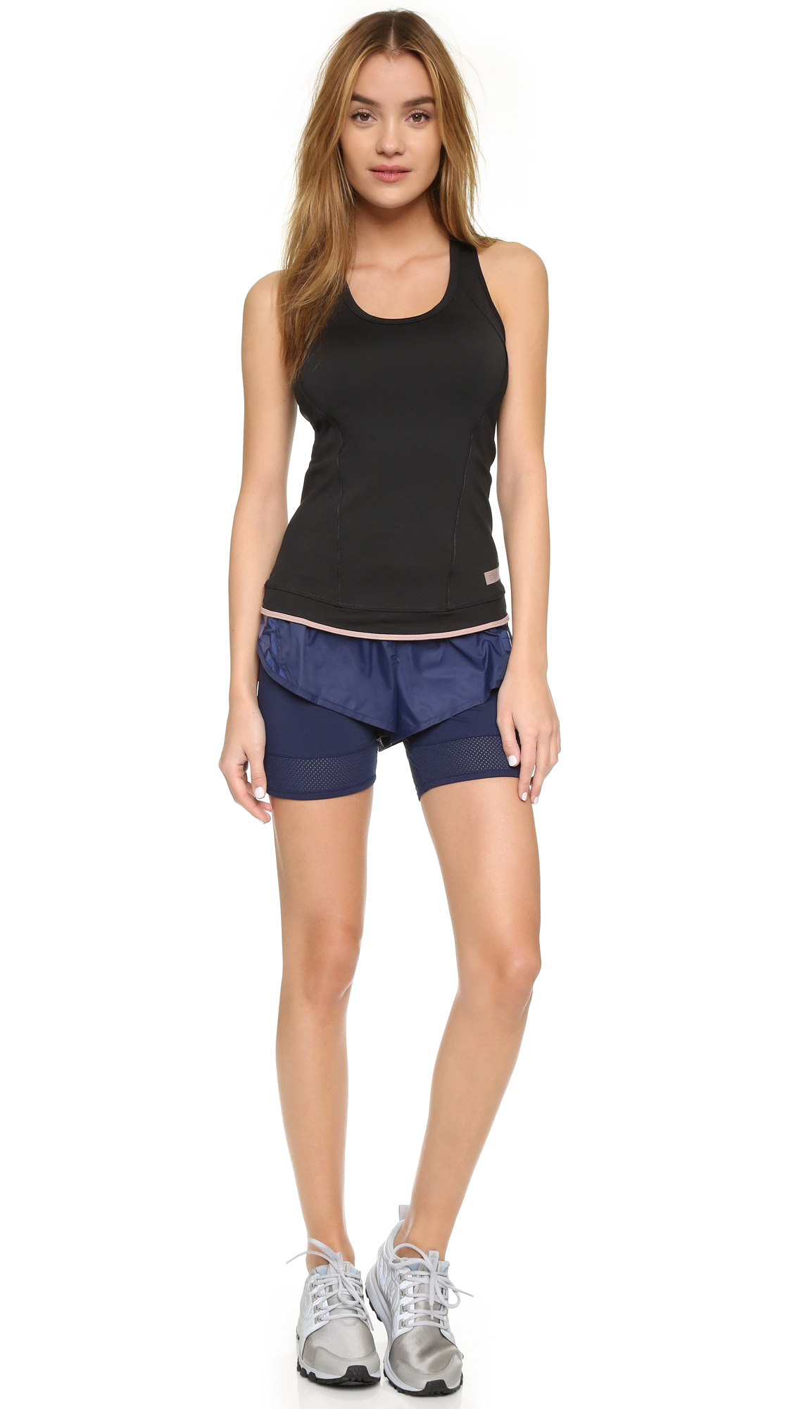 lyst adidas by stella mccartney double layer running. Black Bedroom Furniture Sets. Home Design Ideas