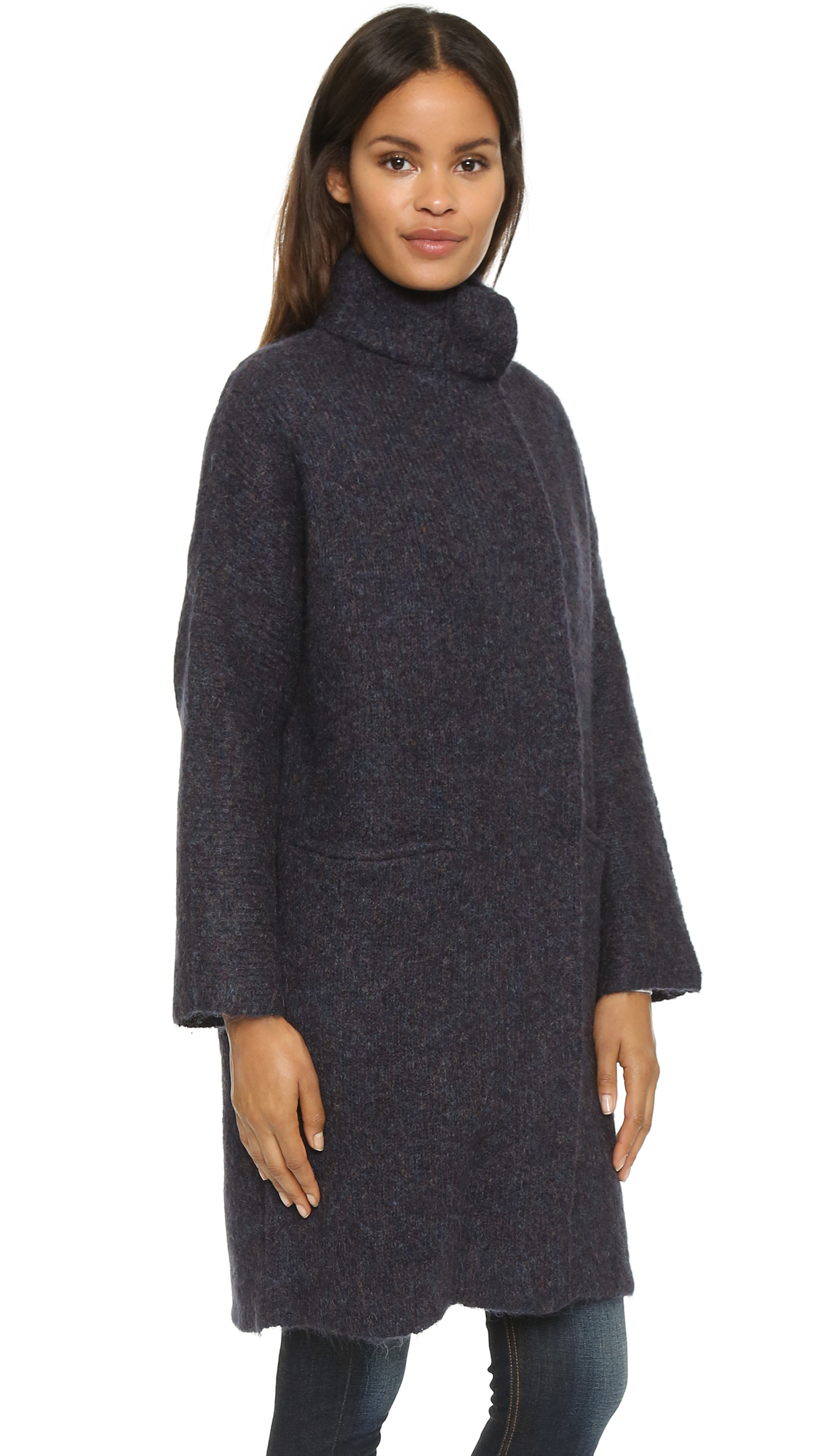 Rag & bone Cammie Sweater Coat - Navy in Blue | Lyst