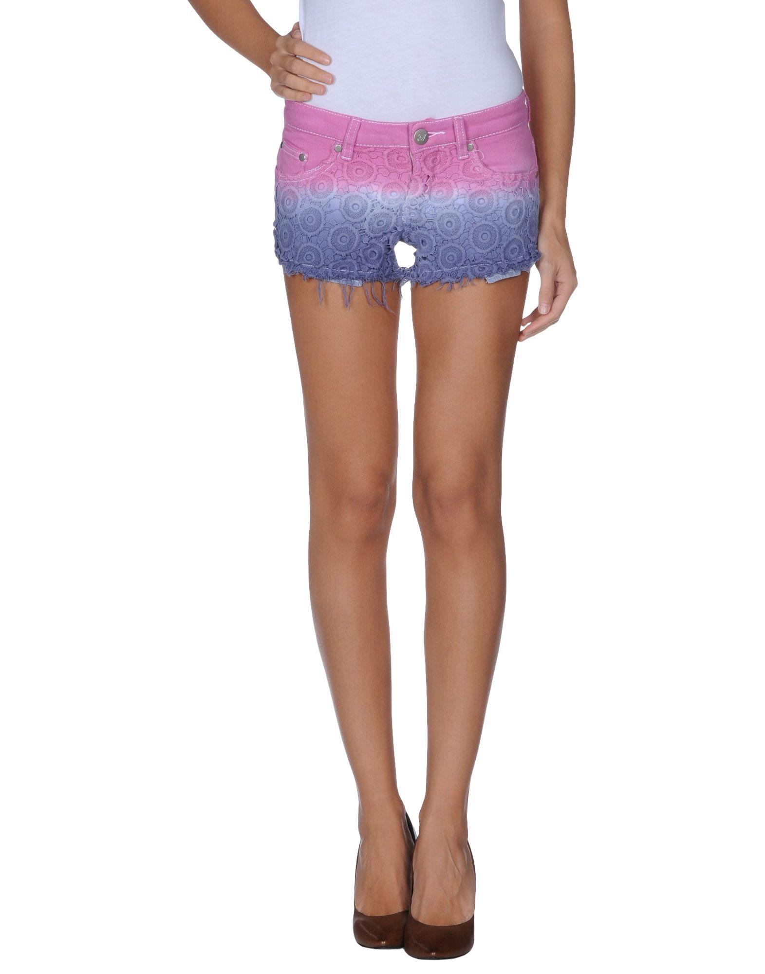 Lyst - Reverse Denim Shorts in Purple