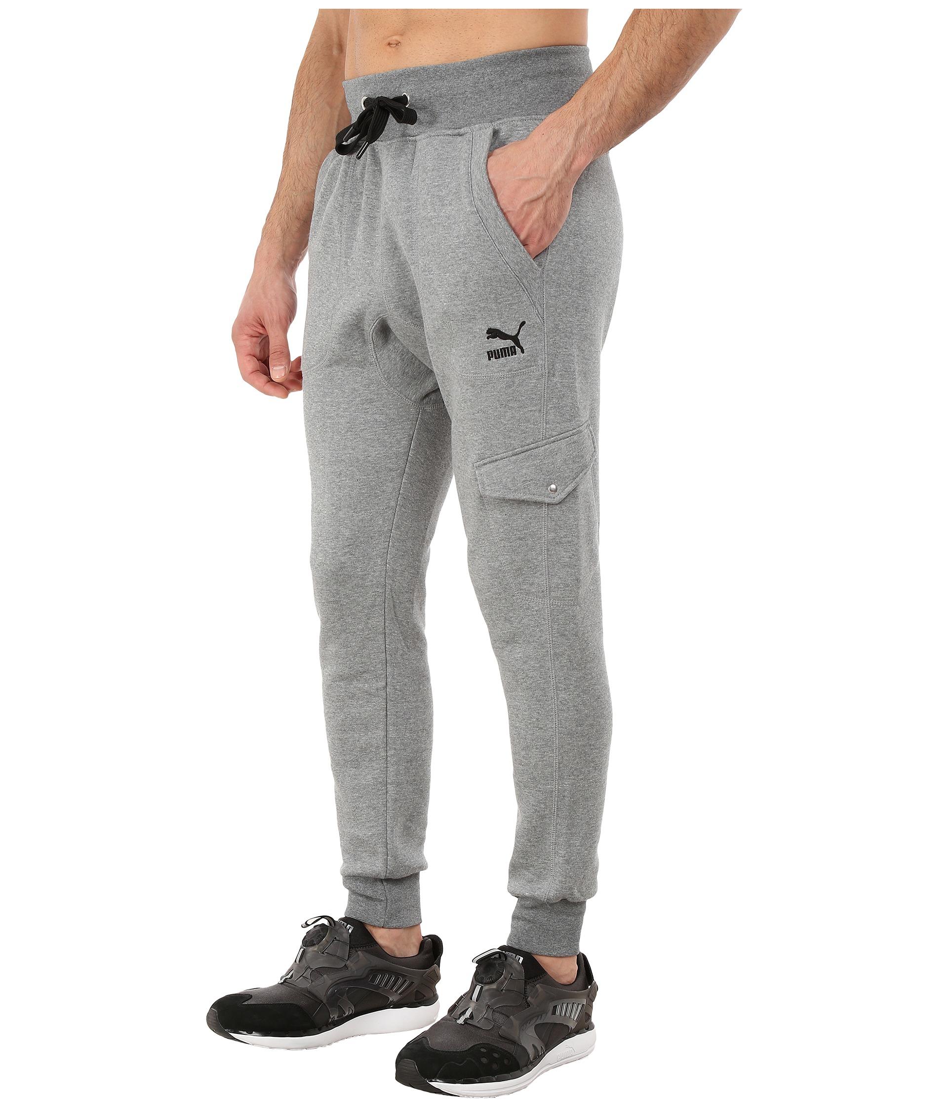 Puma Cargo Sweat Pants In Gray For Men Lyst