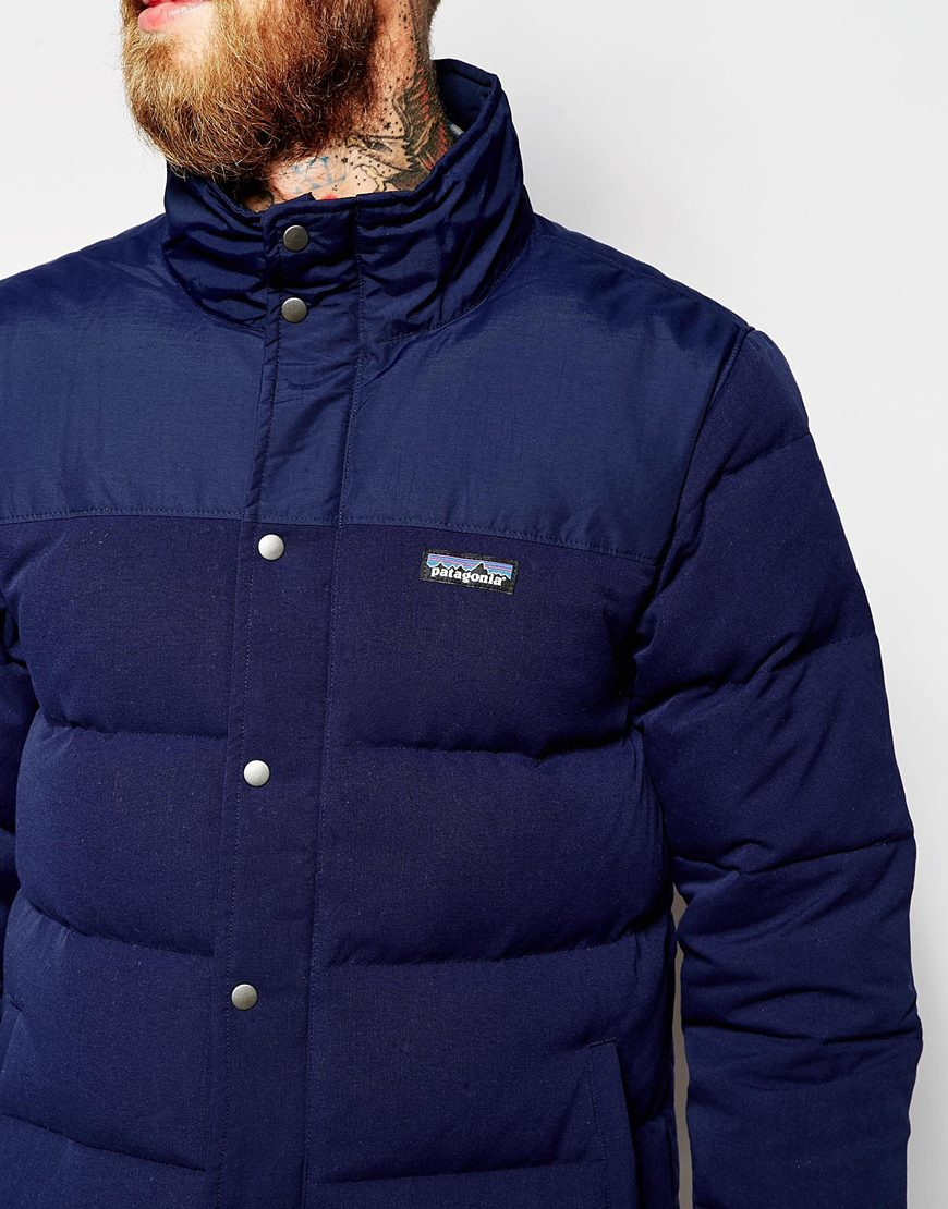 Patagonia Bivy Down Jacket In Blue For Men Lyst