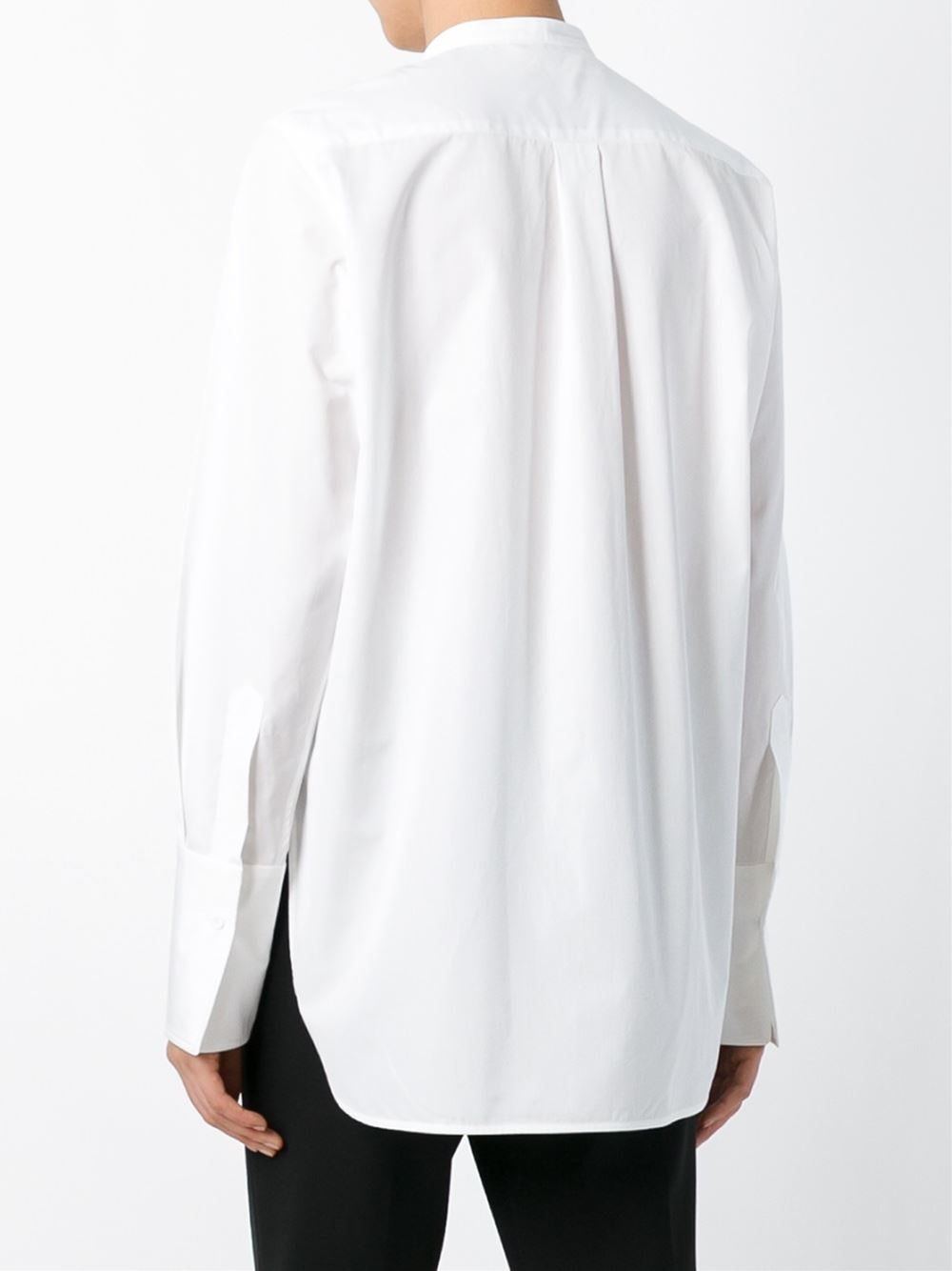 lyst ports 1961 bow detail cotton blouse in white