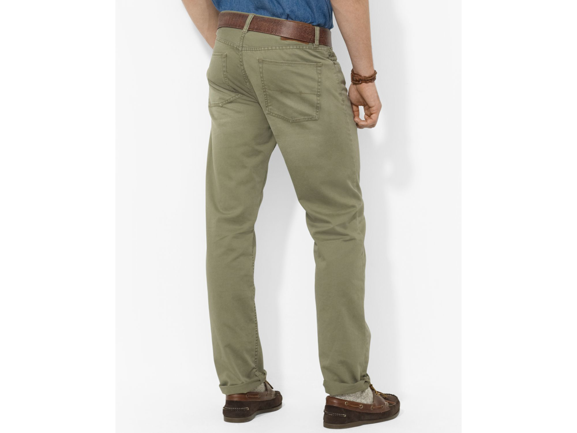 412c360a5812 Lyst - Polo Ralph Lauren Straight-fit Five-pocket Chino Pant in ...