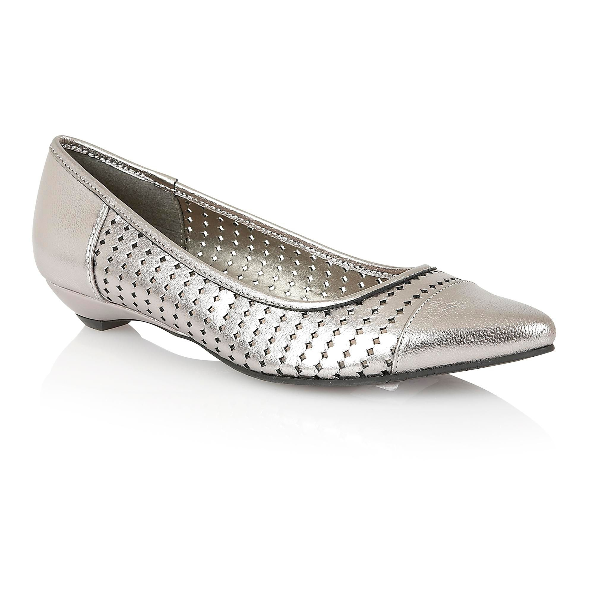 Lotus Diamond Flat Shoes in Silver (Pewter) - Save 50% | Lyst