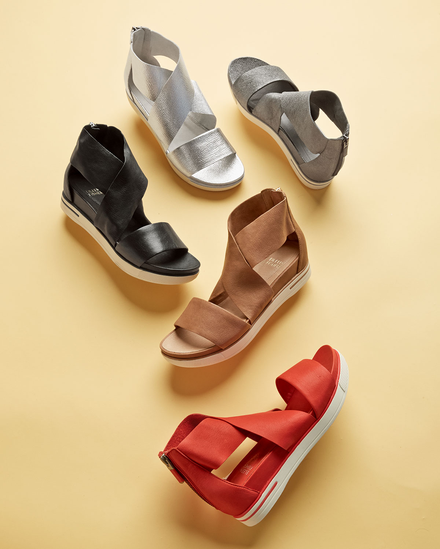 0c7ecfc89752 Lyst - Eileen Fisher Sport Flatform Sneaker Sandal in Metallic