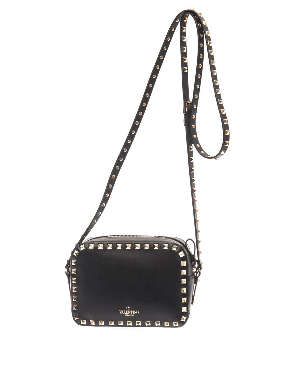 9e79282c25 Valentino The Rockstud Crossbody Bag in Black - Lyst
