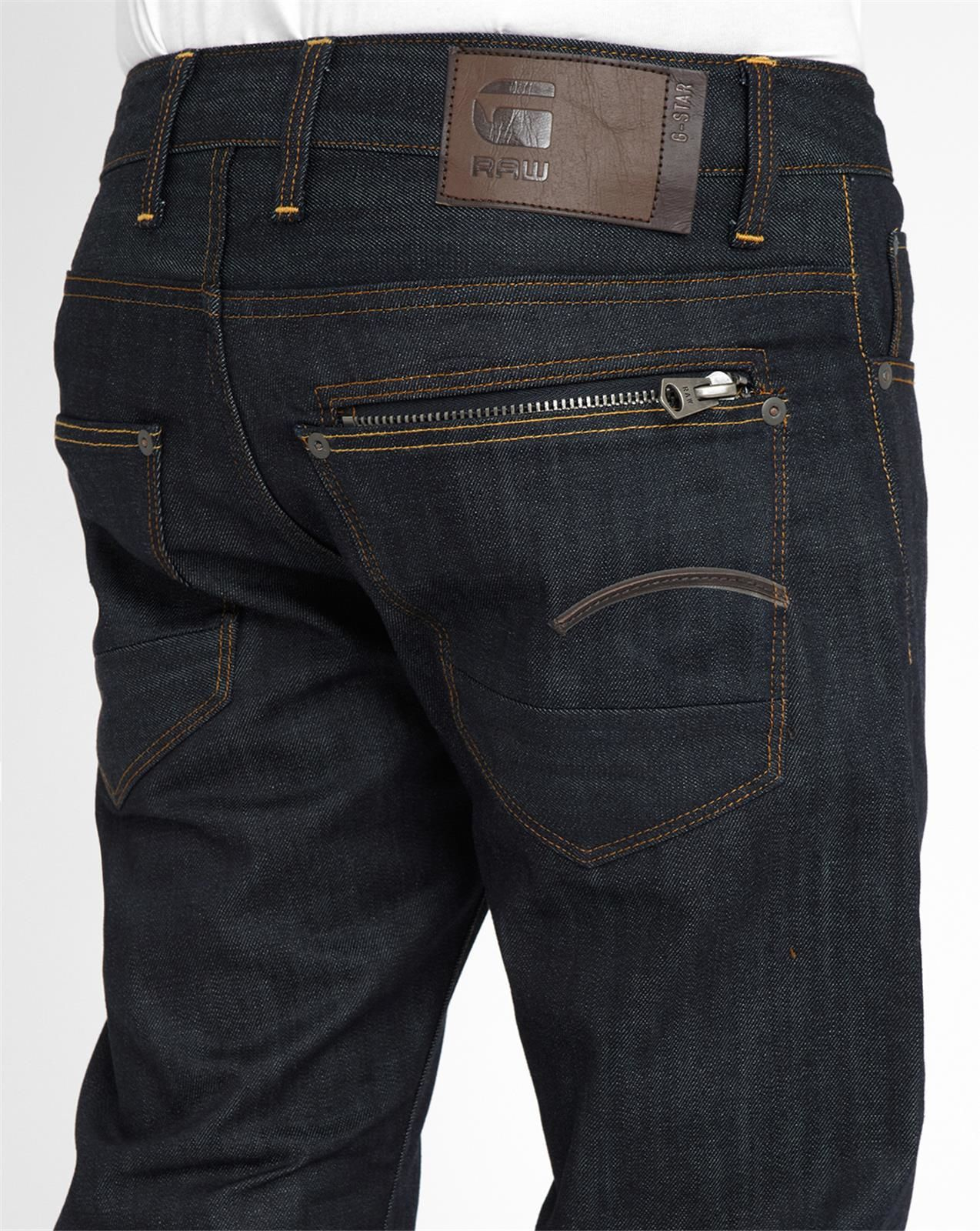 g star raw dark denim attacc straight jeans in blue for. Black Bedroom Furniture Sets. Home Design Ideas