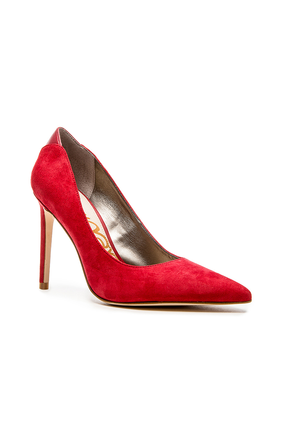 55a156afd8 Sam Edelman Dea Suede Pumps in Red - Lyst