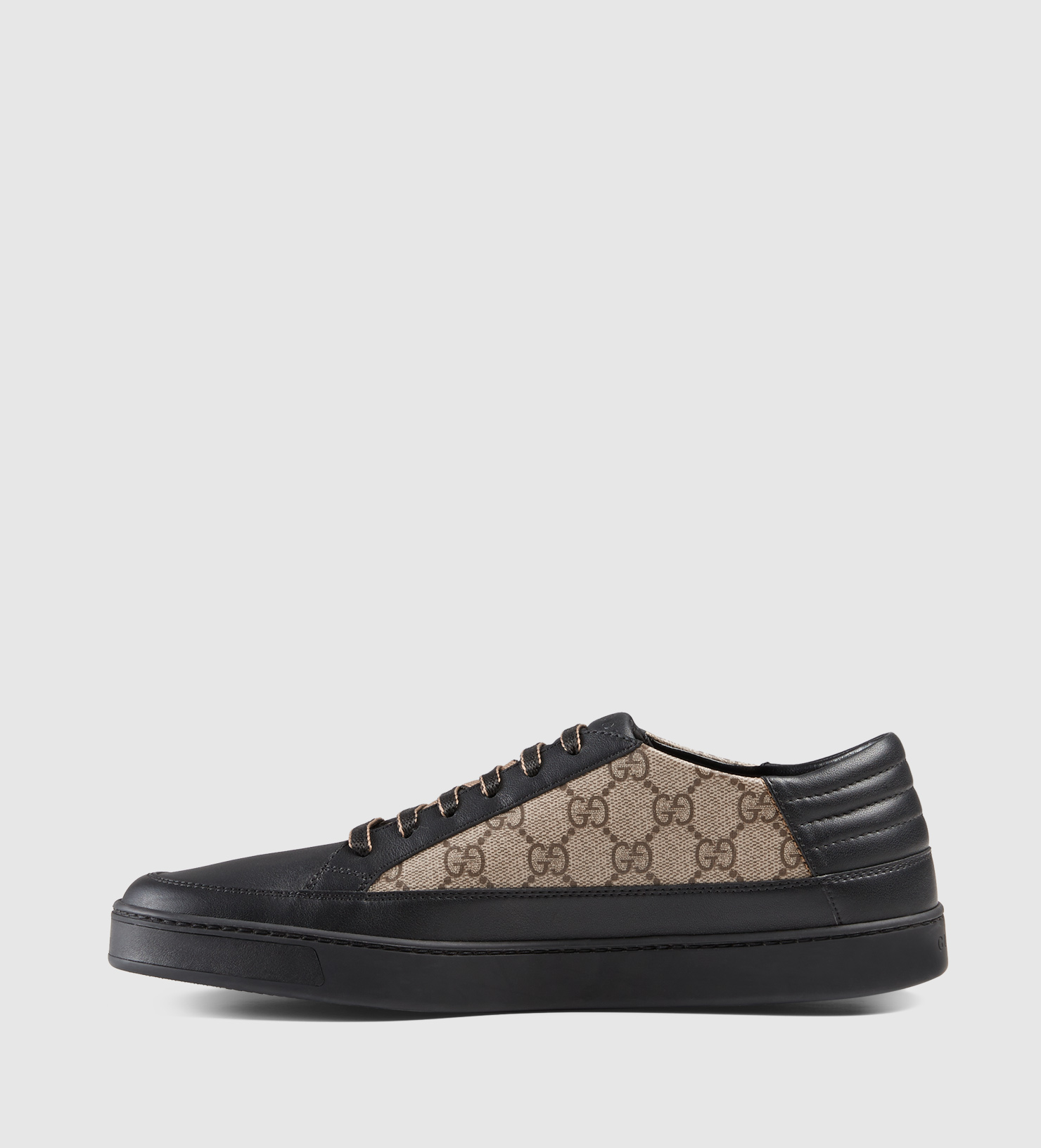 2a141d4e115 Gucci Gg Supreme And Leather Low-top Sneaker in Black for Men - Lyst