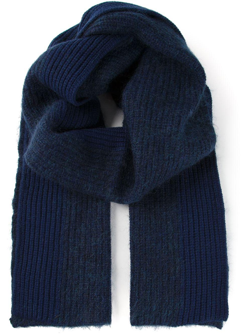 acne dasha scarf in blue lyst