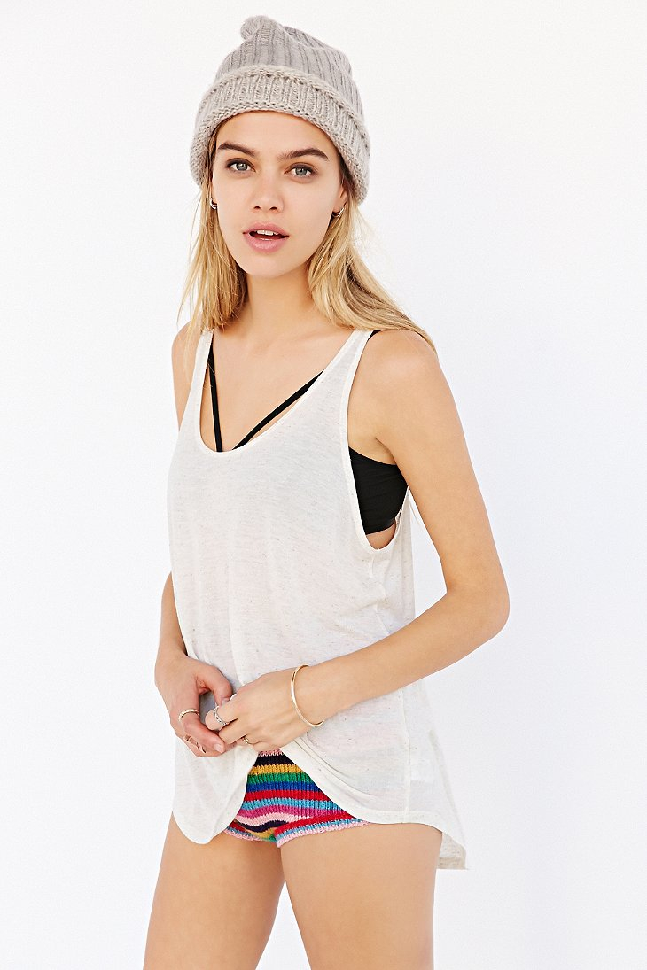 daa049553a Project Social T Deep Scoop Tank Top in White - Lyst