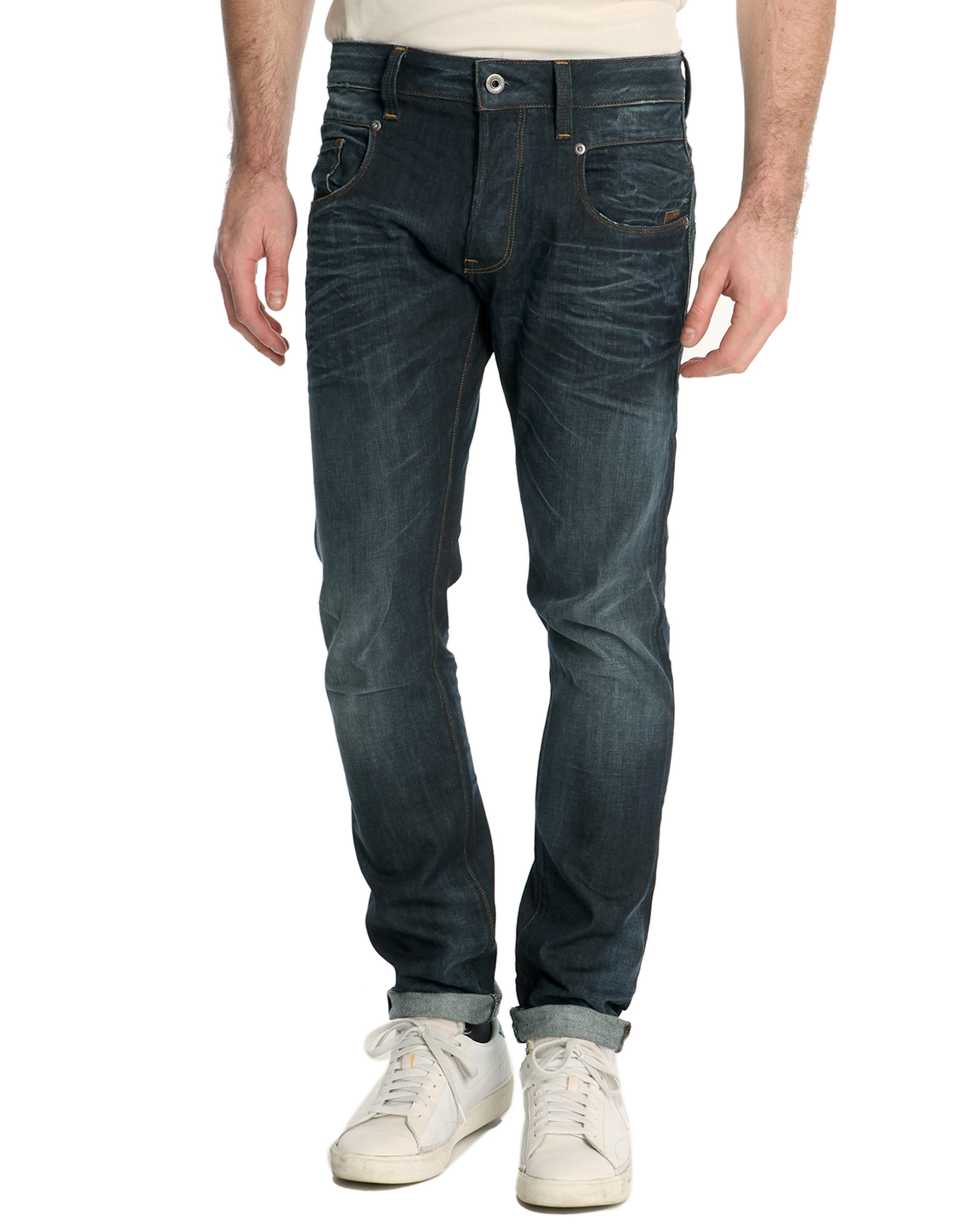 g star raw radar raw denim slim jean in blue for men lyst. Black Bedroom Furniture Sets. Home Design Ideas