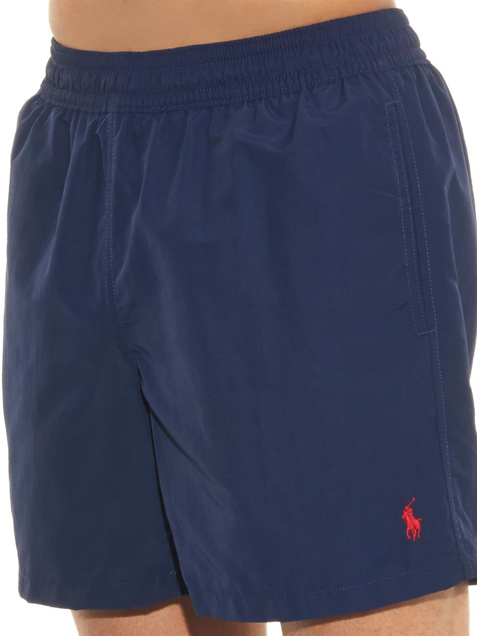polo ralph lauren hawaiian fit 5 swim shorts in blue for. Black Bedroom Furniture Sets. Home Design Ideas