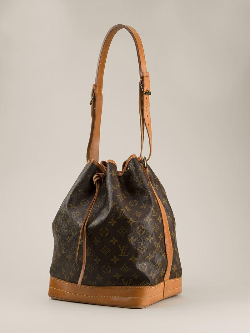 54ed8e3285de8 Lyst - Louis Vuitton  noe  Bucket Shoulder Bag in Brown