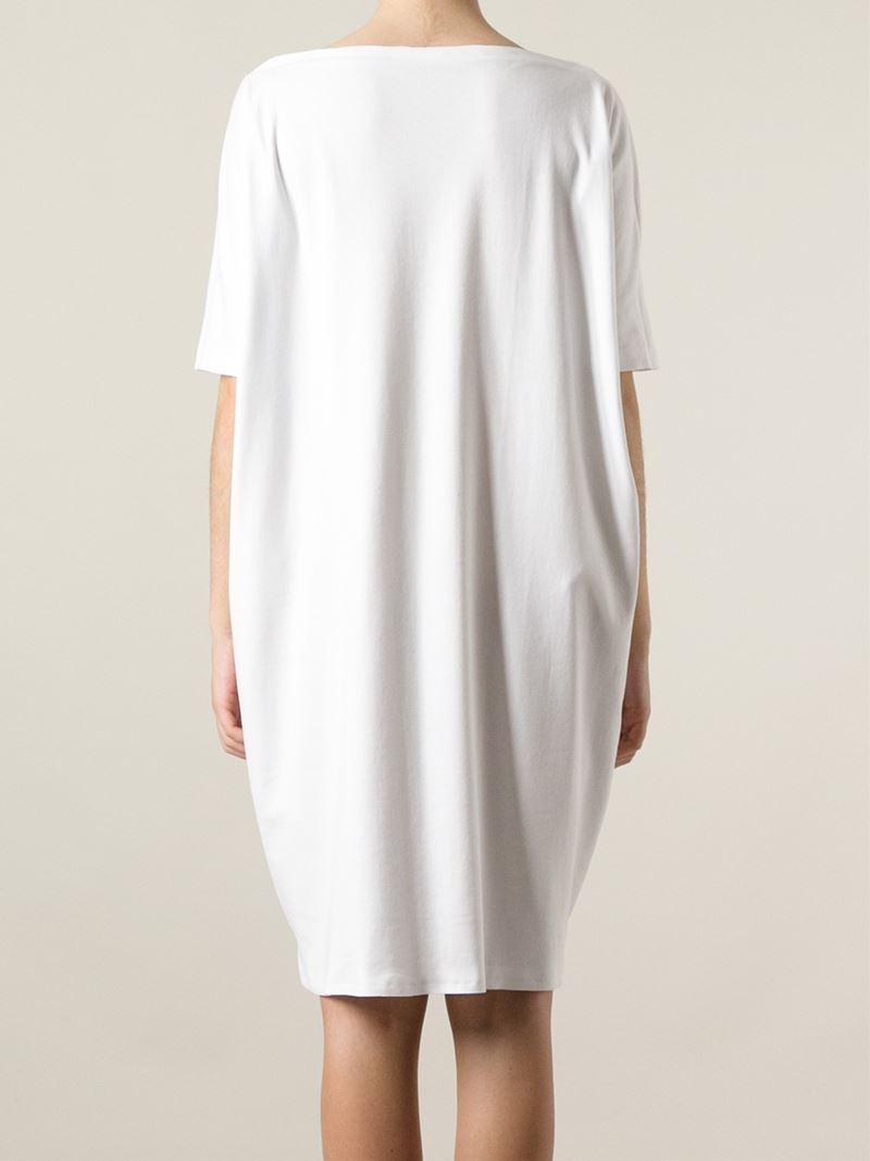Lyst Daniela Gregis Oversized T Shirt Dress In White
