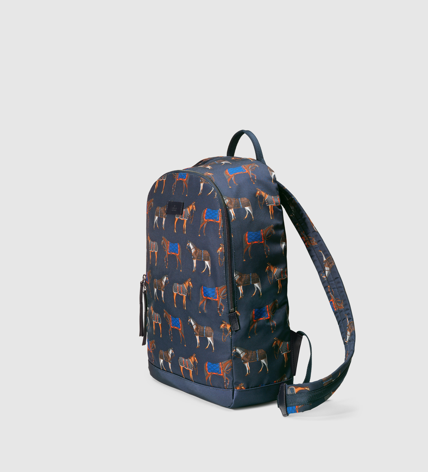 22f7ded7bc93 Gucci Horse Print Backpack in Blue for Men - Lyst