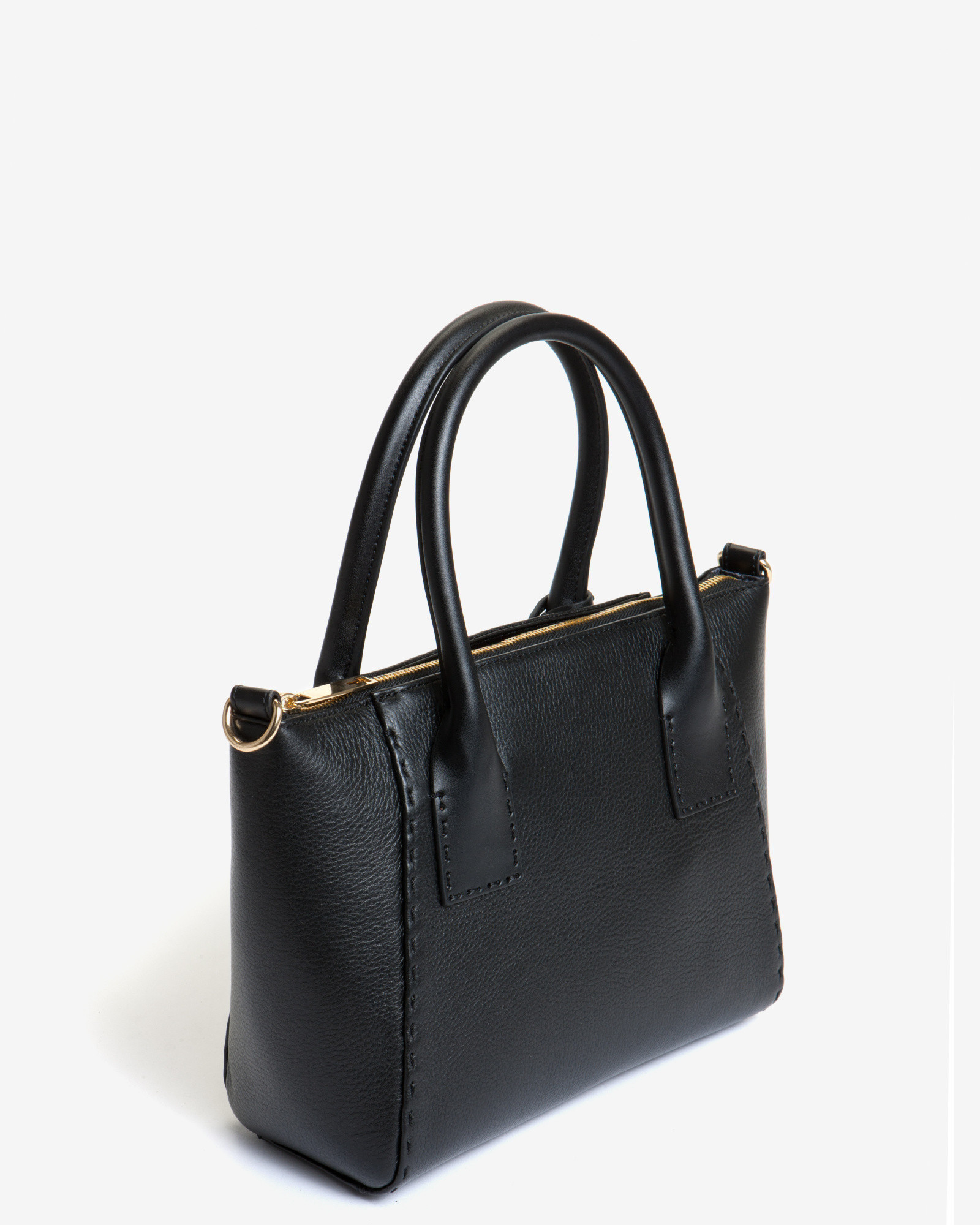 Ted Baker Lauren Small Leather Tote Bag In Black Lyst