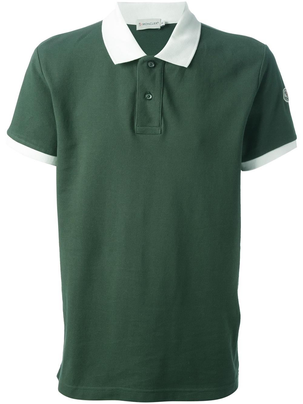moncler green polo shirt