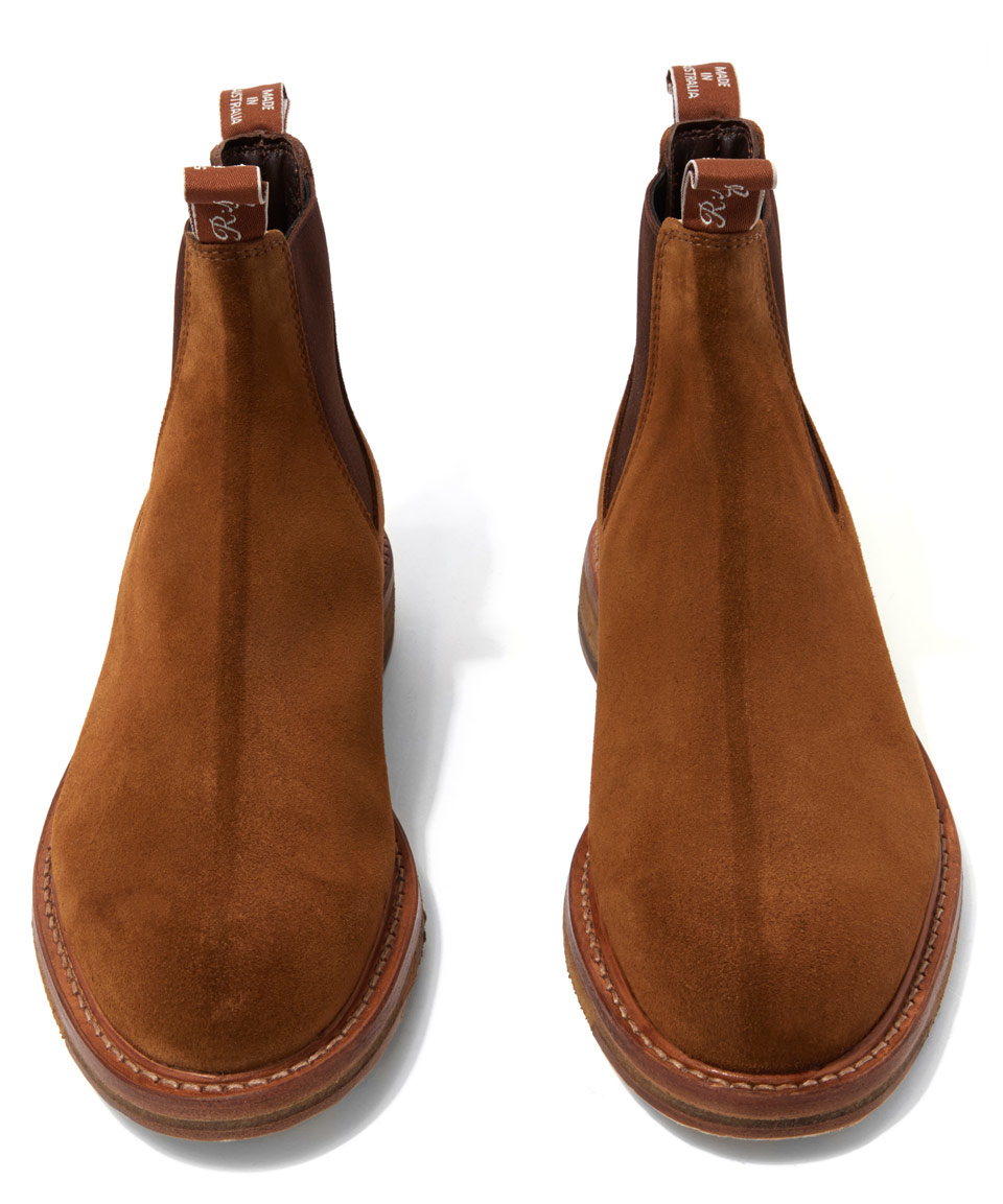 r m williams gilchrist boots in brown for lyst