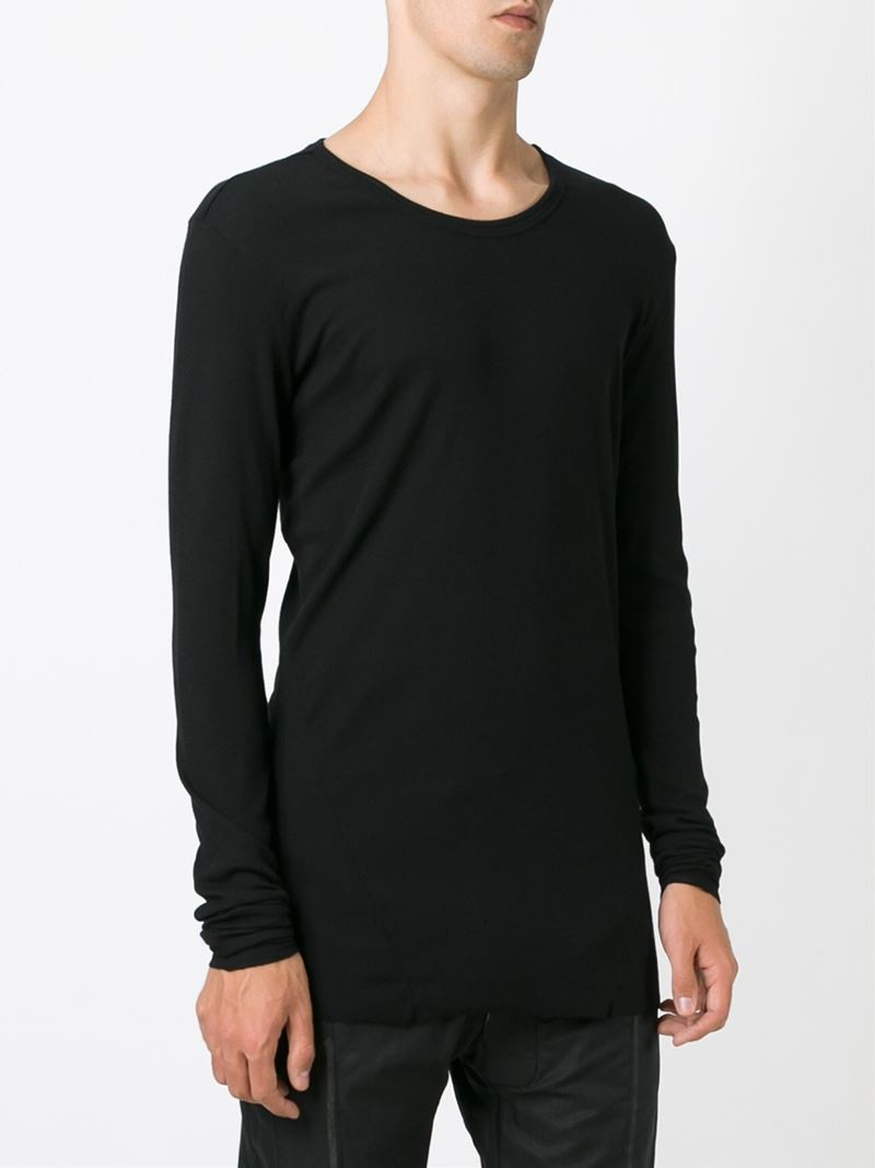 Lyst Lost Found Cut Long Sleeve T Shirt In Black For Men