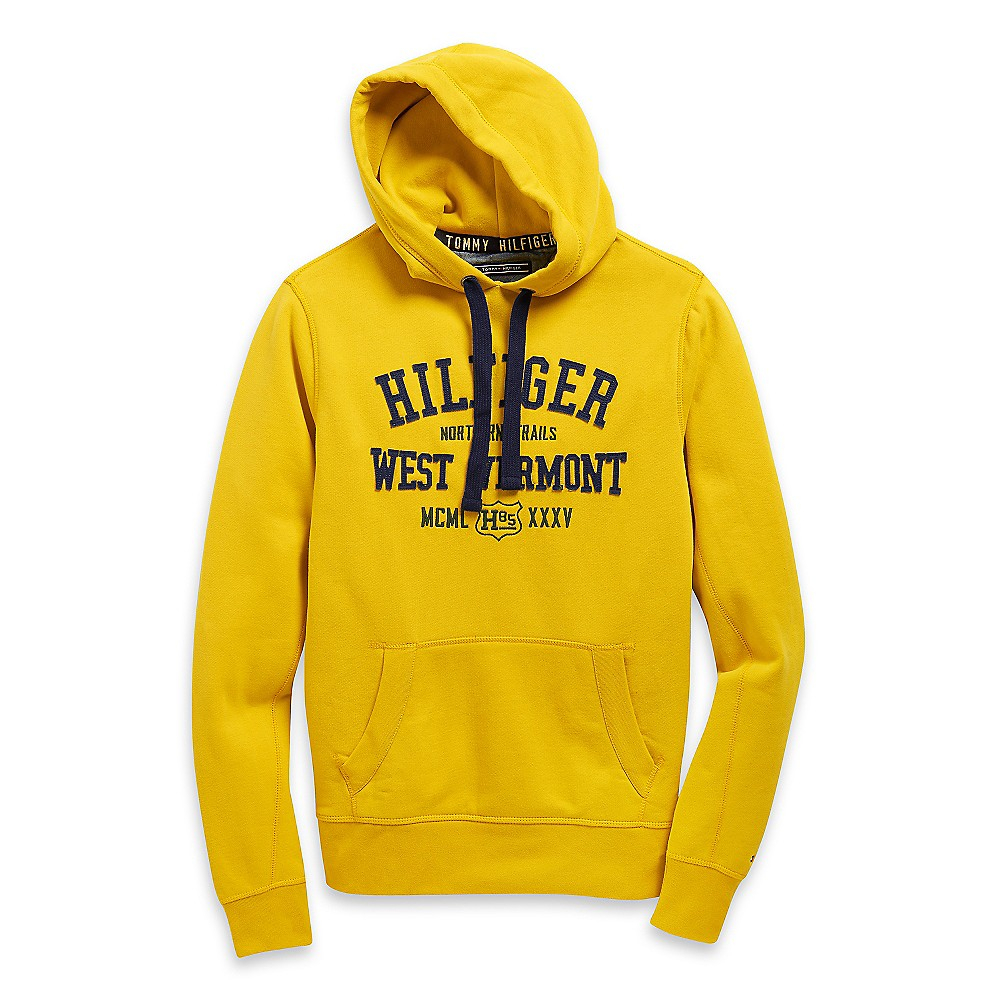 tommy hilfiger west vermont hoodie in yellow for men lyst. Black Bedroom Furniture Sets. Home Design Ideas
