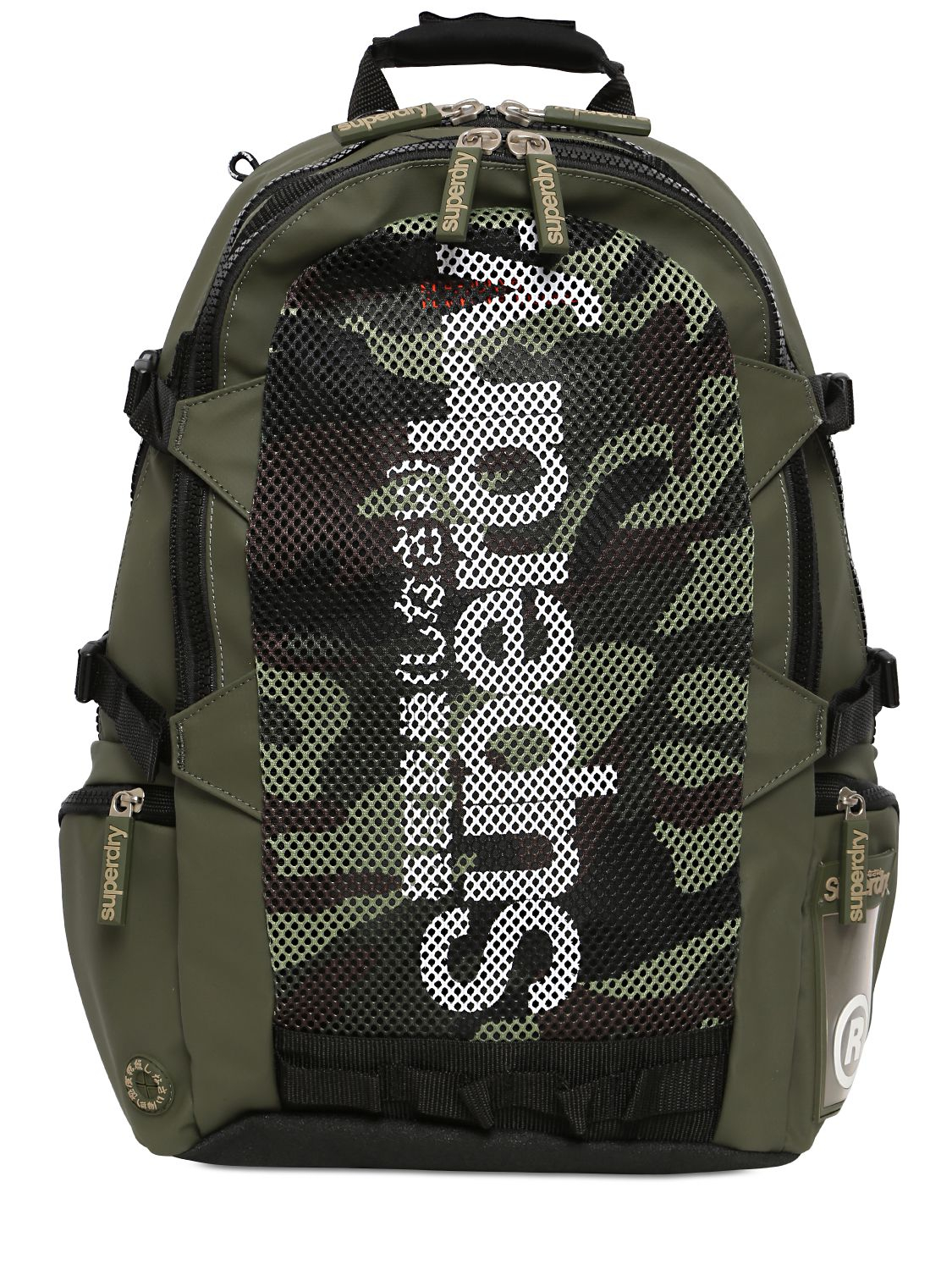 Superdry Camouflage Mesh Tarp Backpack In Green For Men Lyst
