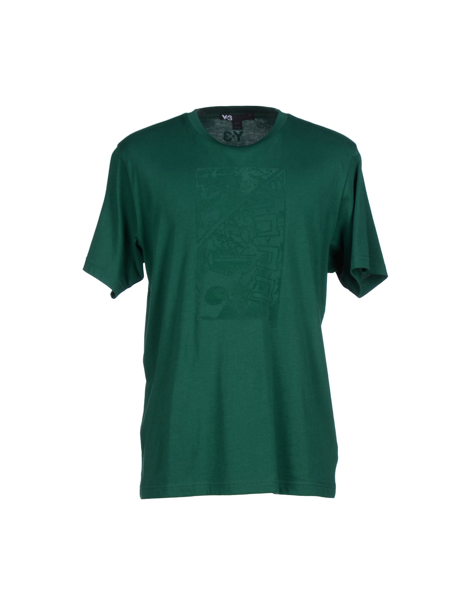 Y 3 t shirt in green for men emerald green save 42 lyst Emerald green mens dress shirt