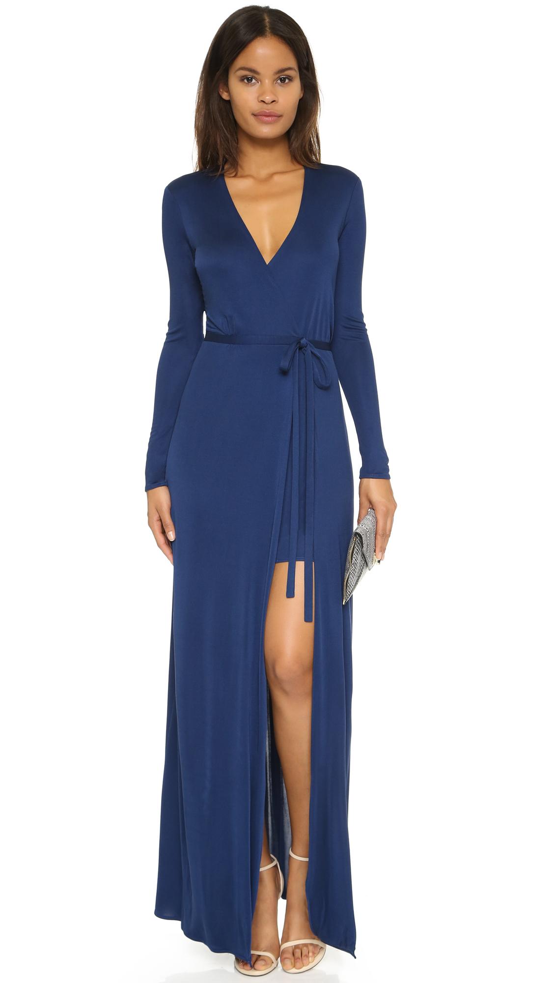 Issa Antonia Long Dress - Blue Topaz in Blue   Lyst
