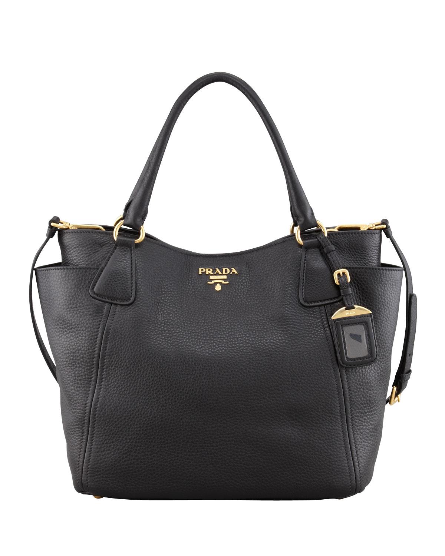 Lyst Prada Large Nylon Beaded Tote Bag In Black