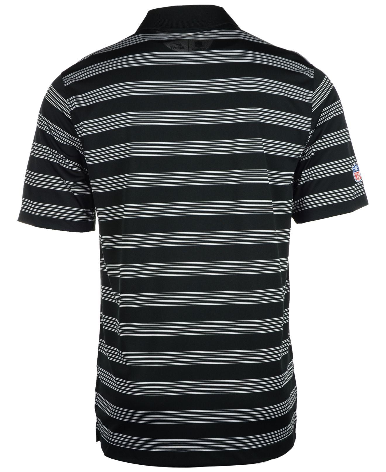 Nike Men 39 S Oakland Raiders Preseason Polo Shirt In Black
