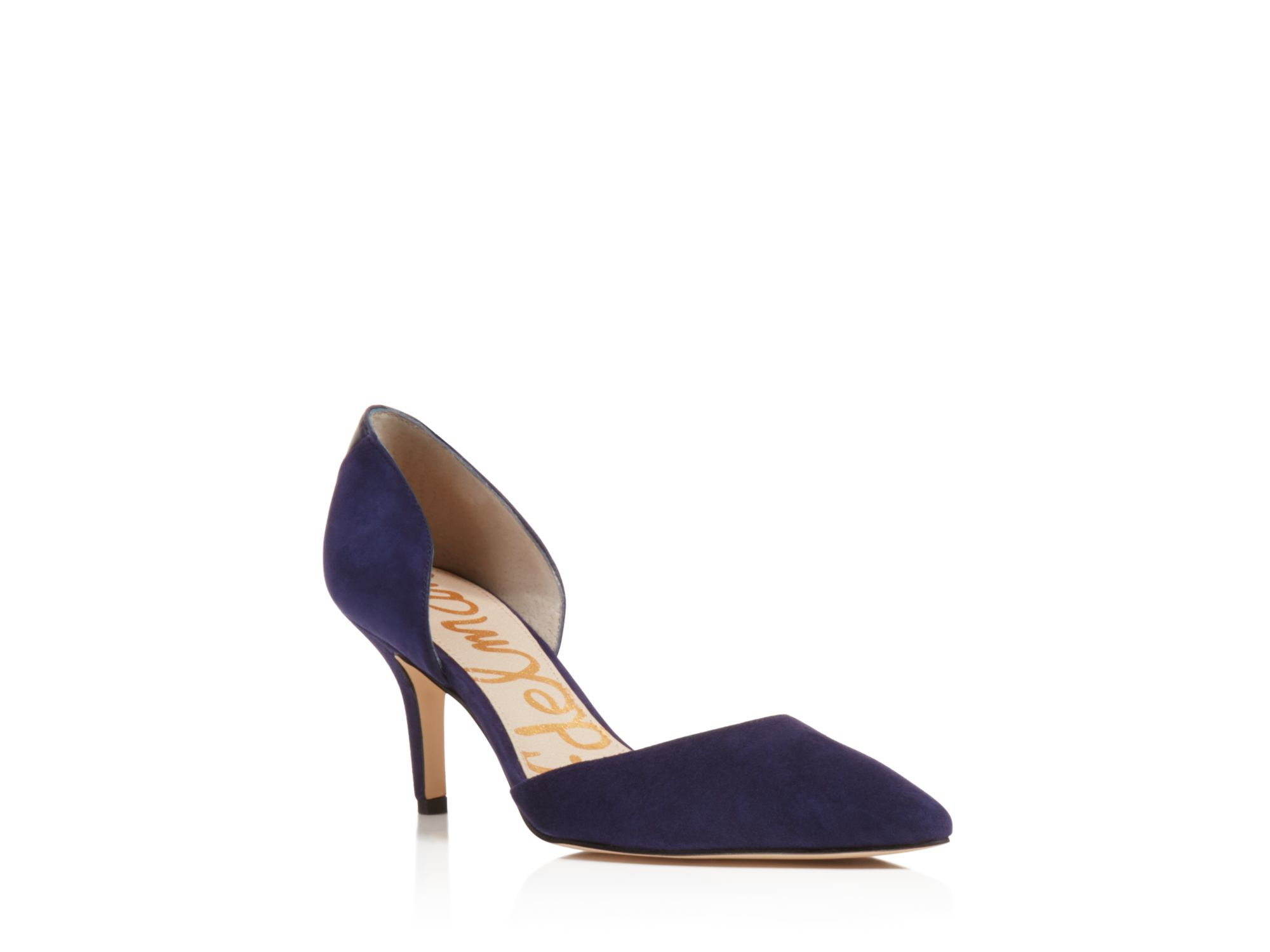 1d45a6049 Sam Edelman Opal Pointed Toe D'orsay Pumps in Blue - Lyst