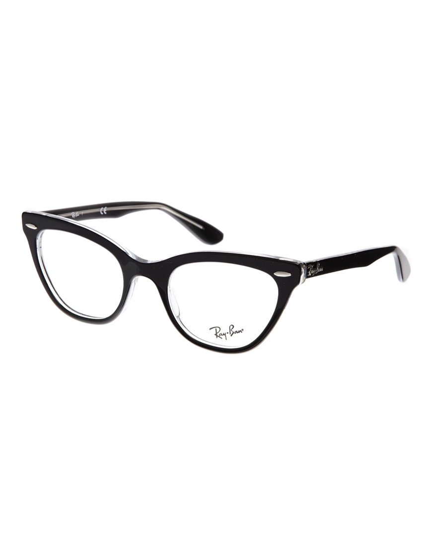 e195b7a35690c ... australia lyst ray ban cateye glasses in black 9aa6b 81d96
