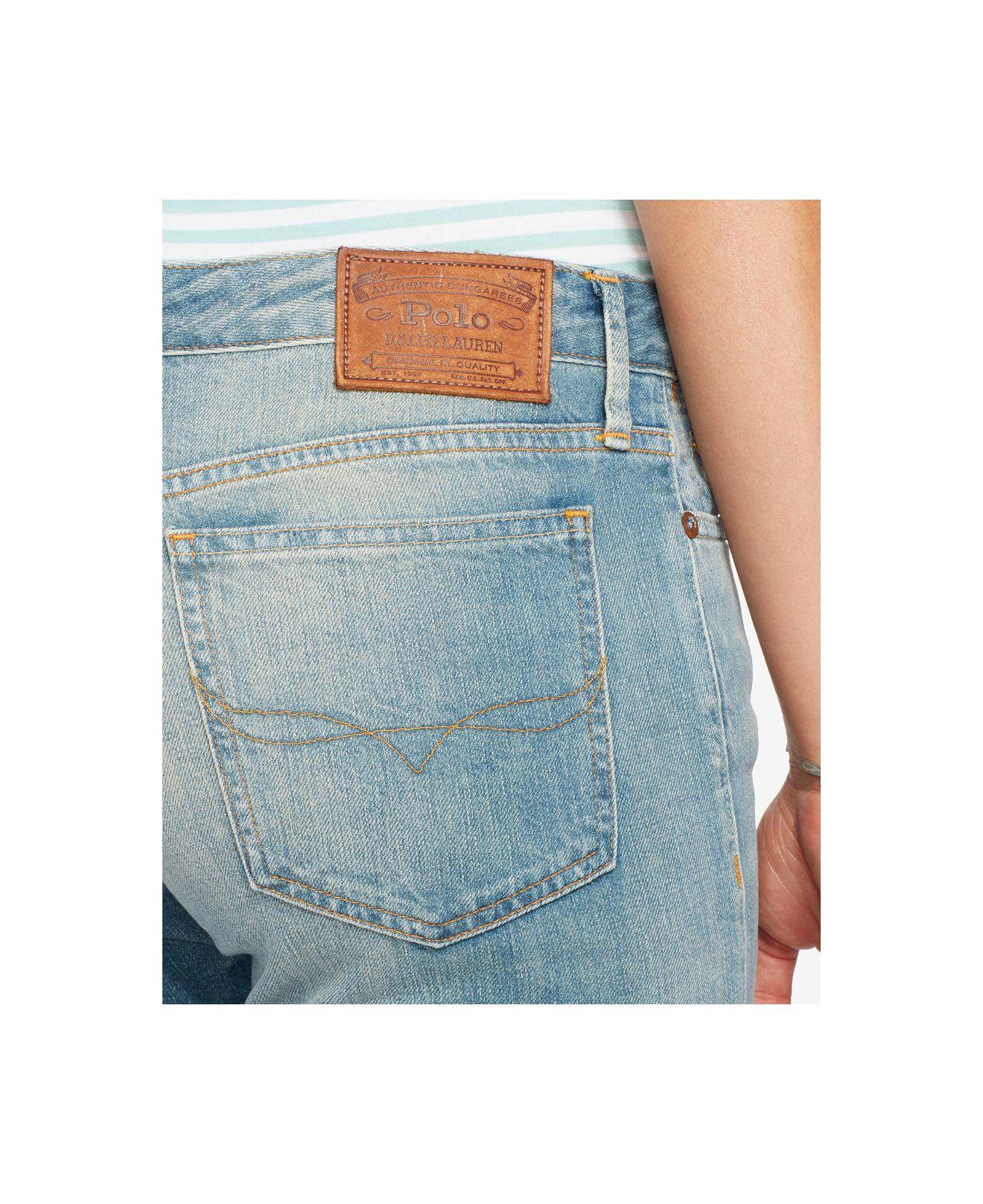 e8d9d00e9 Polo Ralph Lauren Astor Slim Boyfriend Jeans in Blue - Lyst