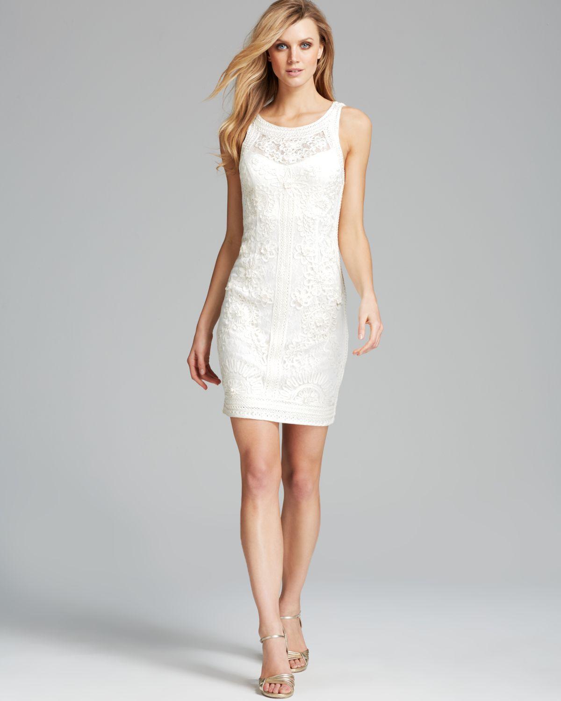 a0b71fca22a Sue Wong Dress Sleeveless Soutache in White - Lyst