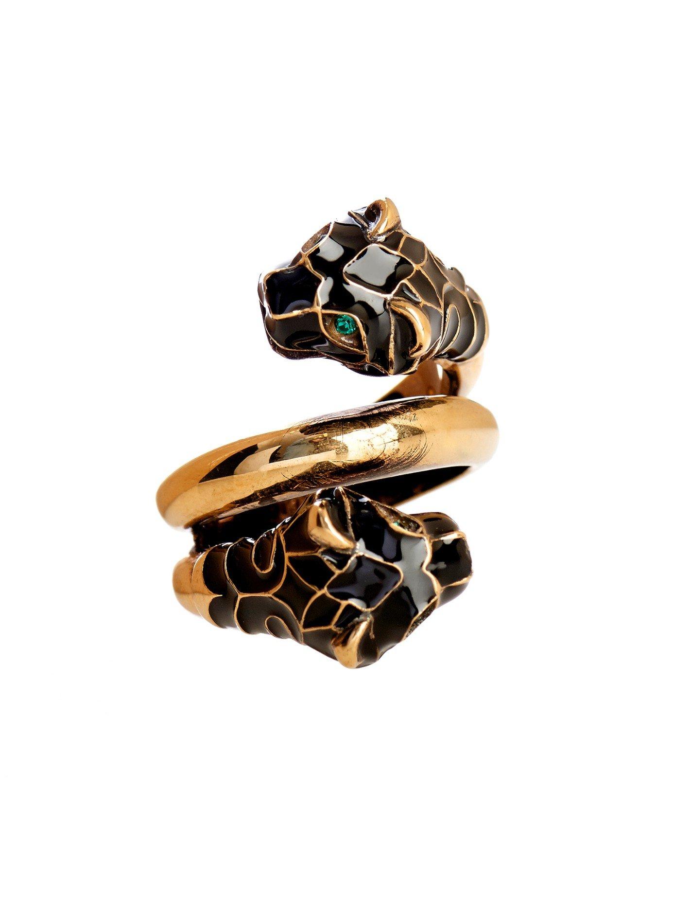 Antique Gold Emerald Ring