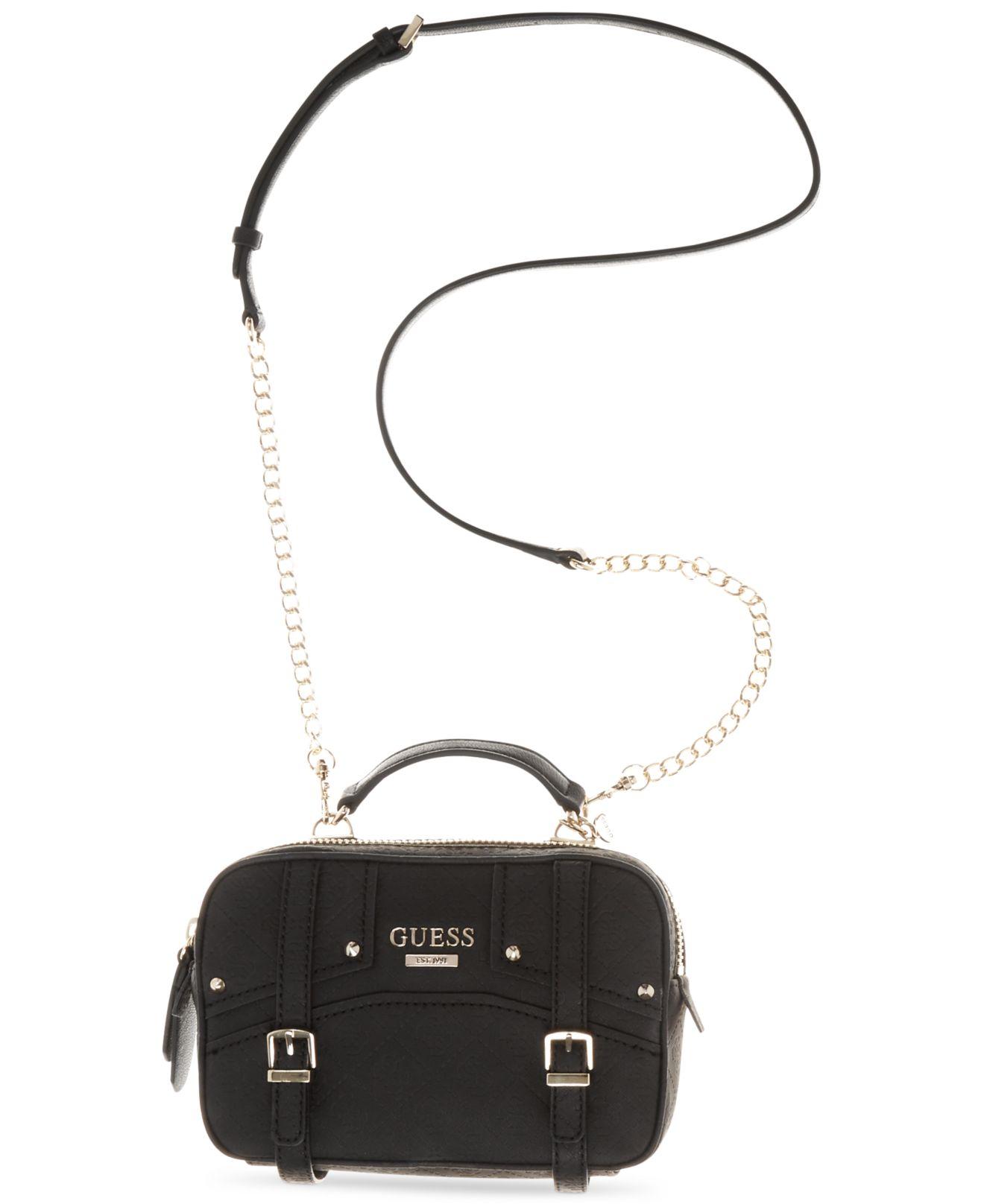 Guess Crossbody Tassen : Lyst guess rikki crossbody camera bag logo embossed in black