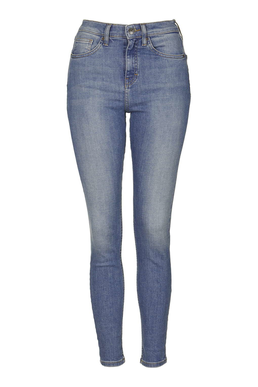 Topshop Moto Cain Premium Skinny Jeans in Blue | Lyst