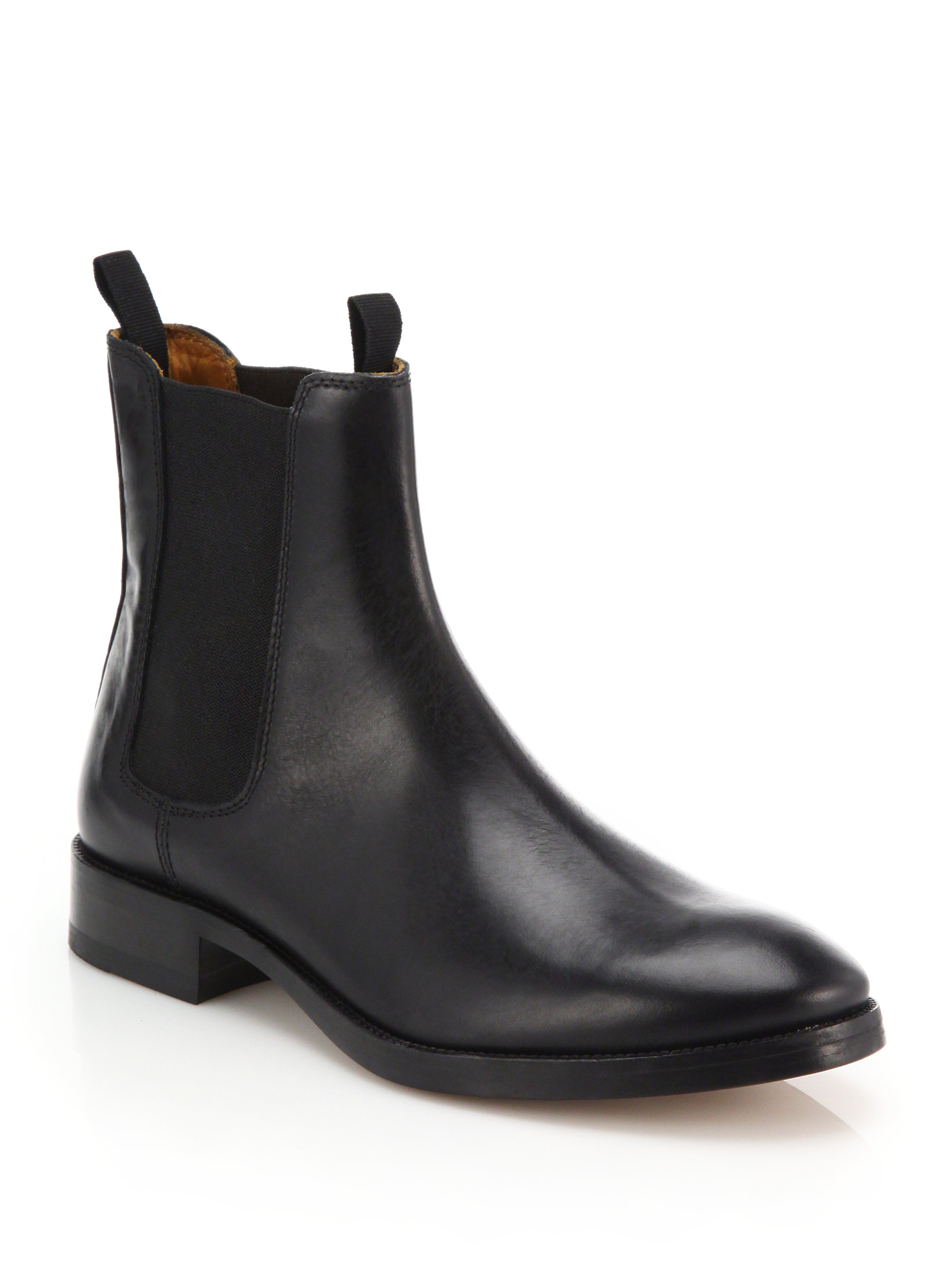 acne studios bess classic leather chelsea boots in black