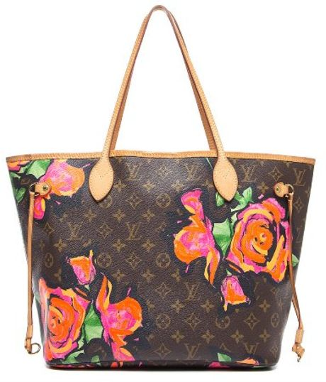 louis vuitton preowned stephen sprouse monogram canvas roses neverfull mm tote bag in floral
