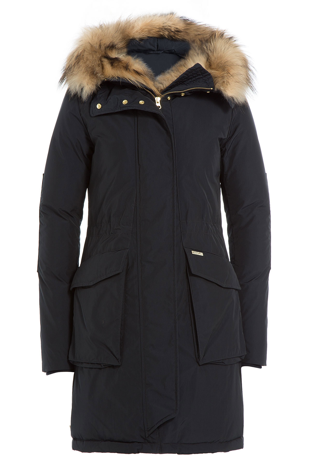 Woolrich Military Eskimo Down Parka With Fur-trimmed Hood - Blue ...