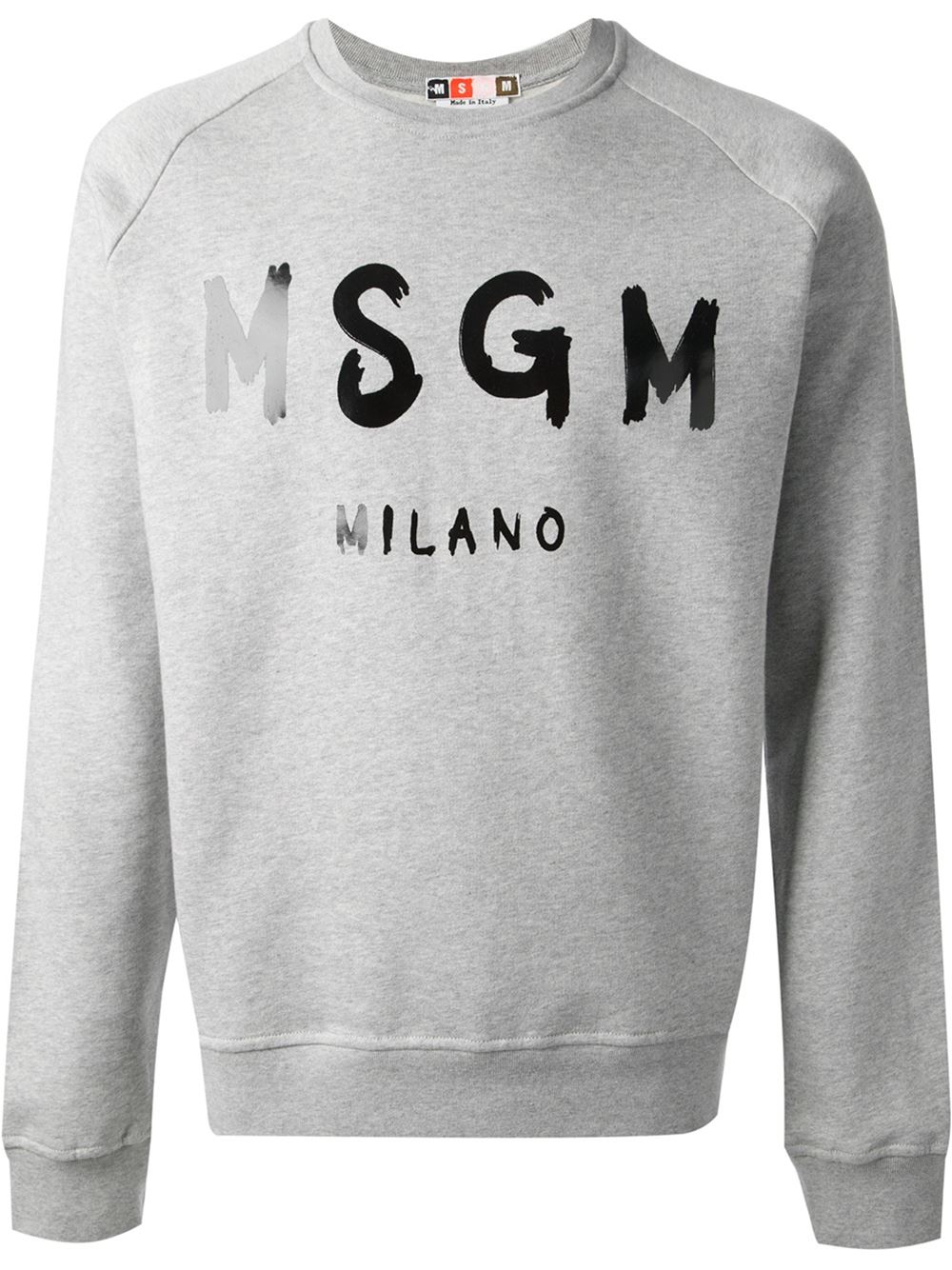 ebcf9ad67e Lyst - MSGM Logo Sweatshirt in Gray for Men