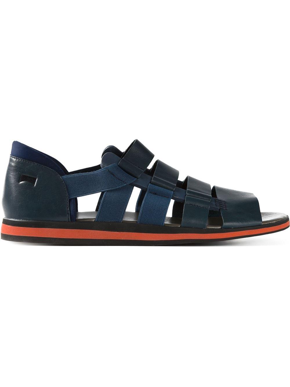 Lyst Bernhard Willhelm Spray Sandals In Blue For Men