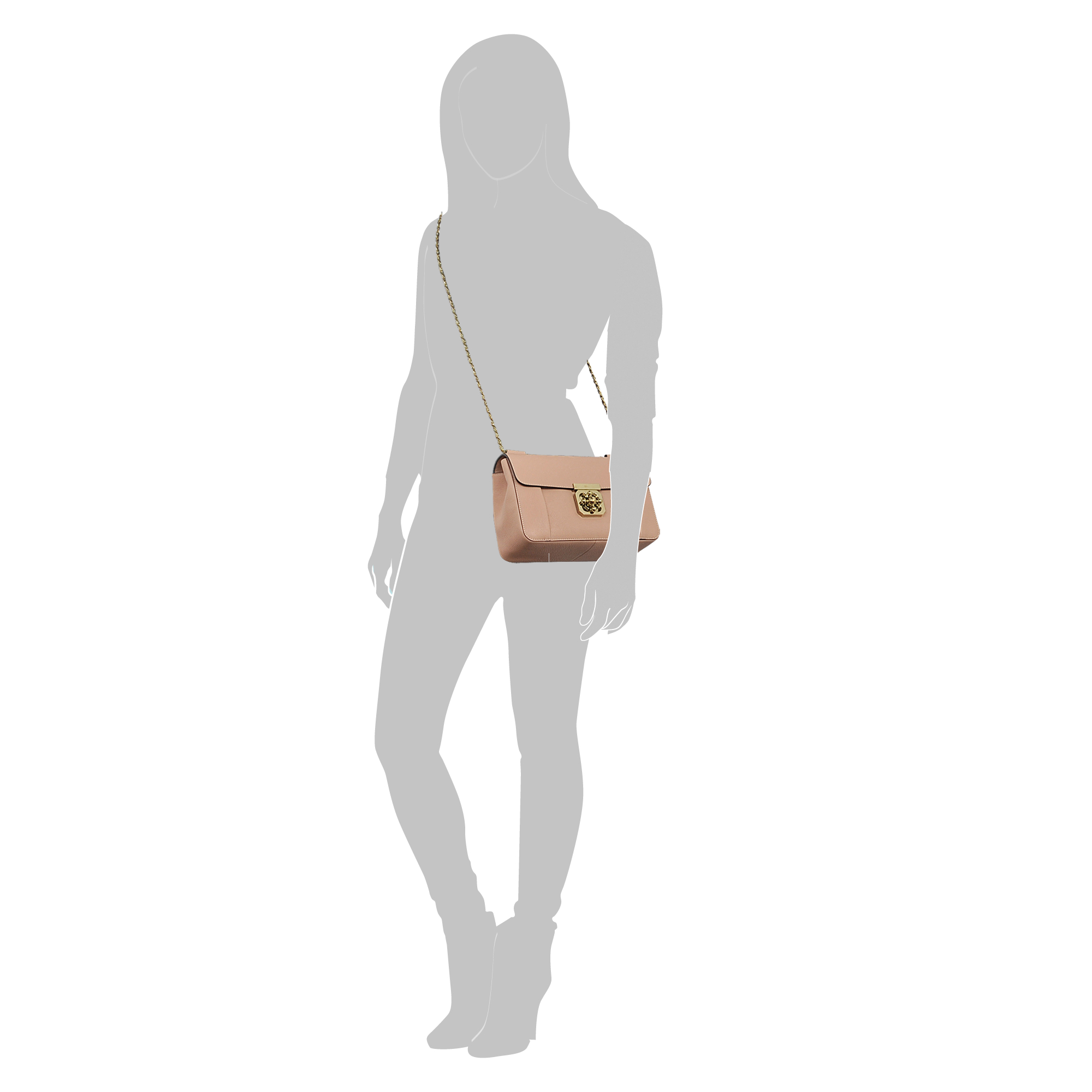 chloe satchel bag - Chlo�� Elsie Medium Shoulder Bag in Beige | Lyst