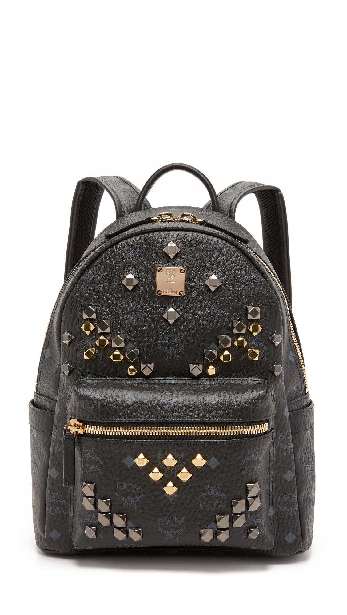 Mcm M Stud Small Stark Backpack In Black Lyst