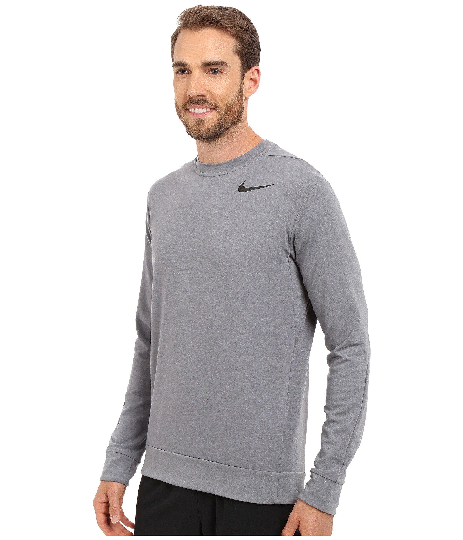 909d62ec8307d Lyst - Nike Dri-fit™ Fleece Crew Training Shirt in Gray for Men