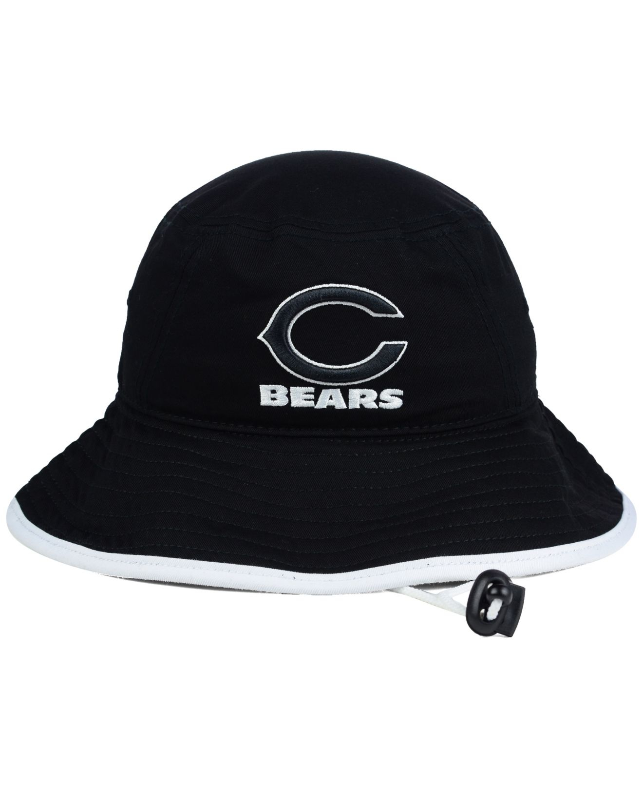 f56bbf19a94 ... coupon code for lyst ktz chicago bears nfl black white bucket hat in  black 1e035 a503b