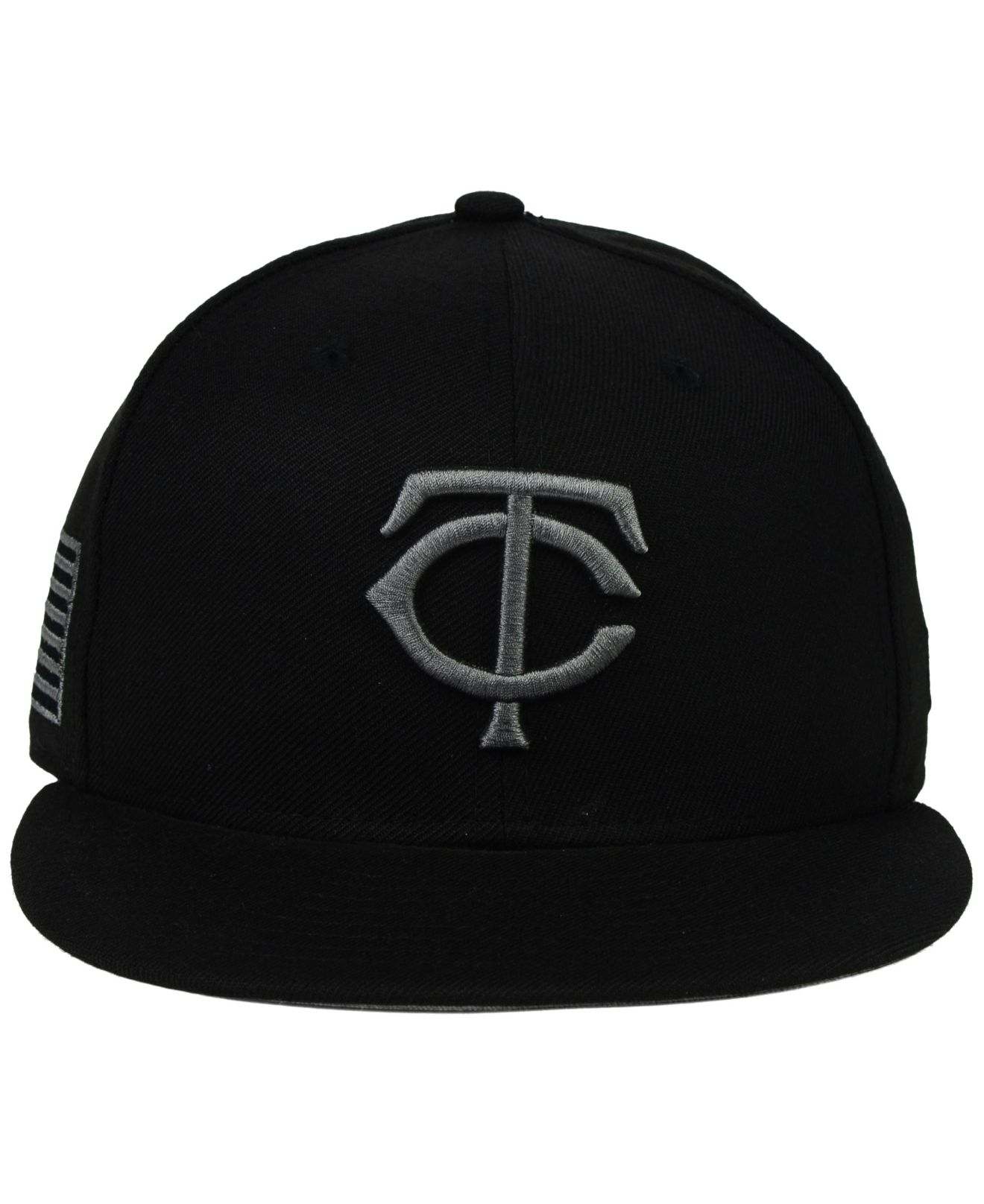 sale retailer eca09 2cc6b Lyst - KTZ Minnesota Twins American Patch Redux 59fifty Cap in Black ...