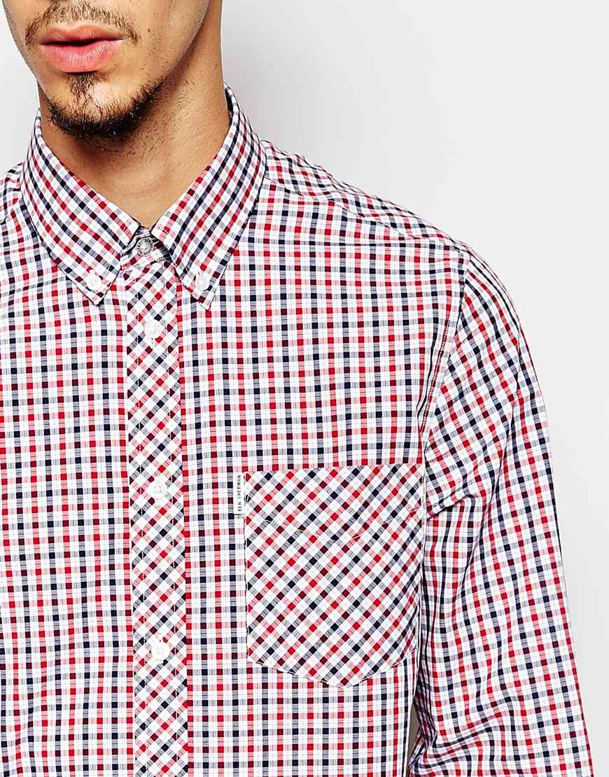 Lyst Ben Sherman Shirt With Gingham House Check In Blue