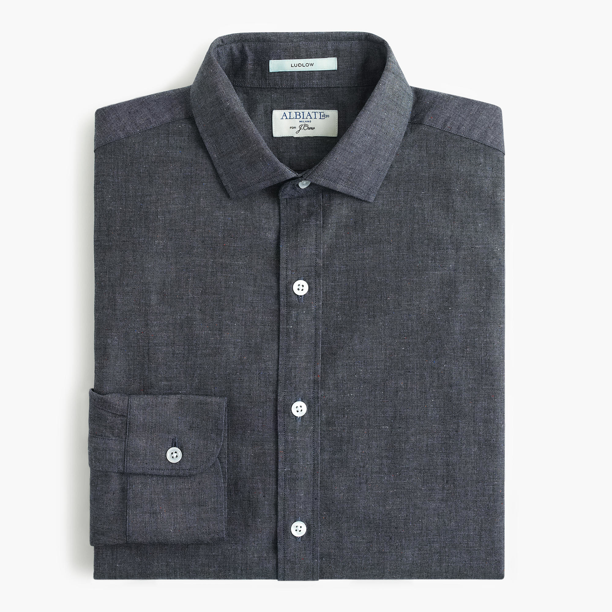 Albiate 1830 ludlow shirt in baltic sea chambray in for Chambray 7 s