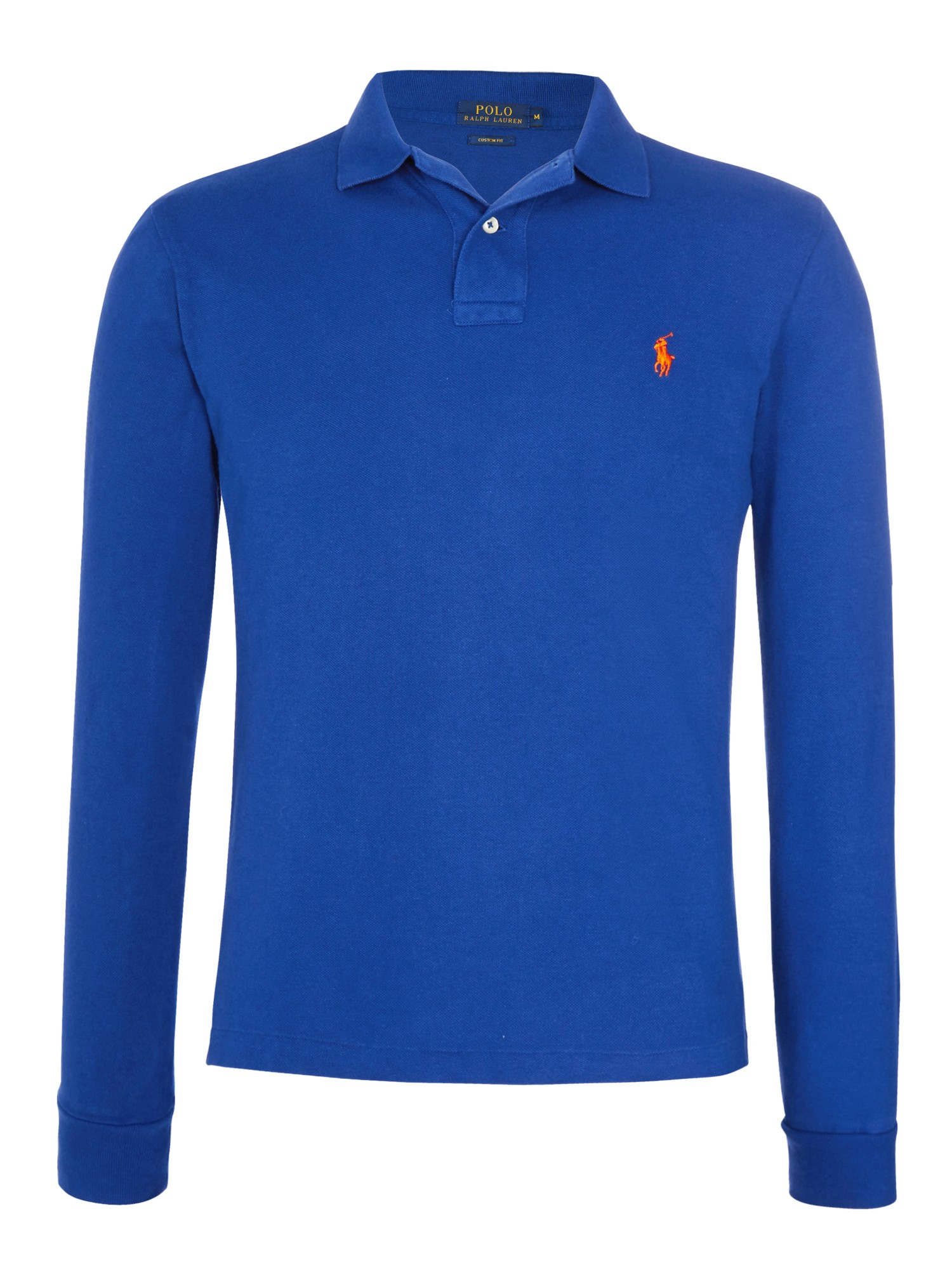 Polo Ralph Lauren Custom Fit Long Sleeve Polo Shirt In